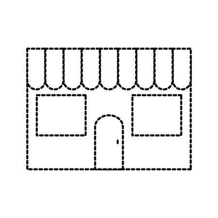 restaurant facade exterior building commercial vector illustration