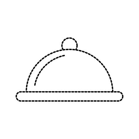 Couverture alimentaire plat servir restaurant menu illustration vectorielle Banque d'images - 87678488