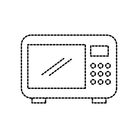 Micro-ondes équipement restaurant équipement de cuisine illustration vectorielle Banque d'images - 87678490