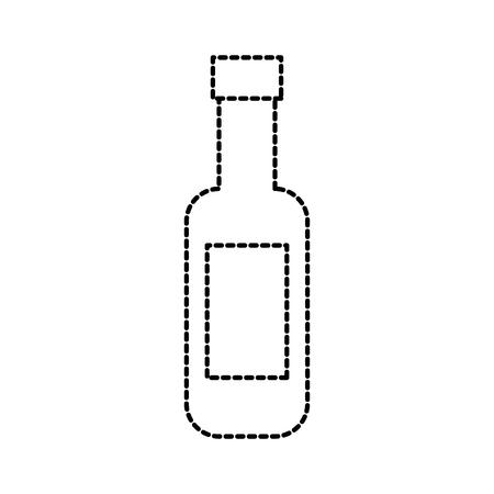 wine bottle restaurant bar beverage vector illustration