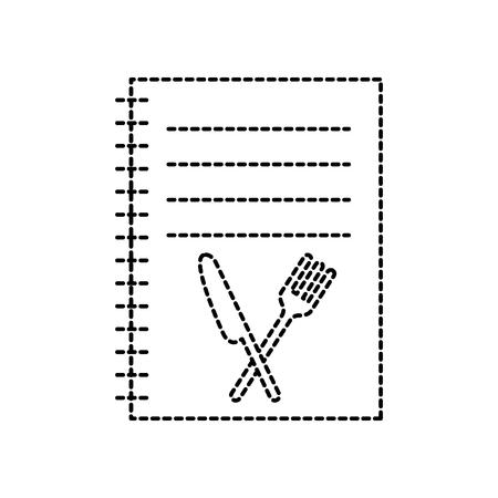 recipe book cooking menu restaurant element vector illustration Illustration
