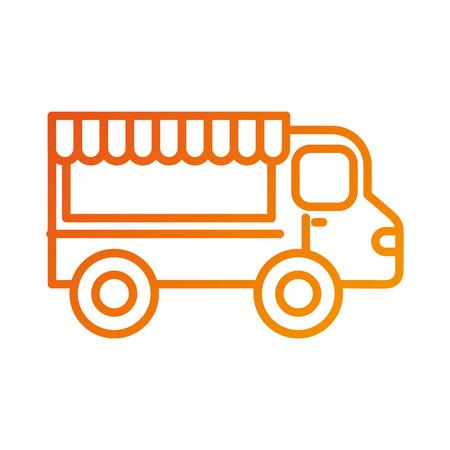 restaurant food truck trasnport service vector illustration