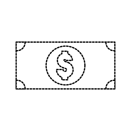 Dollar billet d & # 39 ; argent comptant icône illustration vectorielle Banque d'images - 87674094