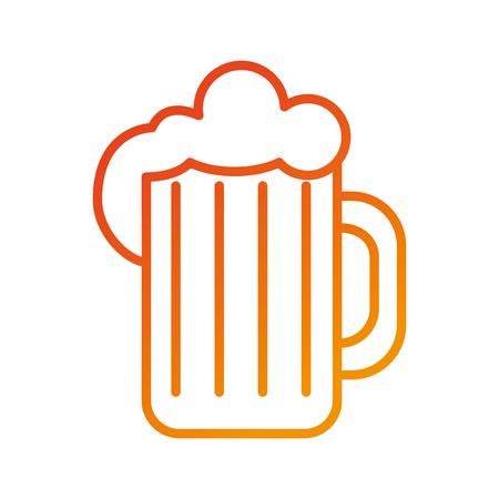 glass of beer foam cold fresh drink beverage restaurant bar vector illustration Ilustrace
