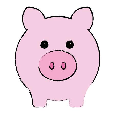 piggy savings isolated icon vector illustration design Иллюстрация