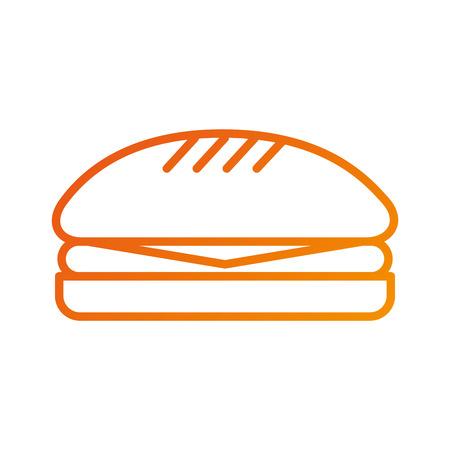 fast food sandwich delicious menu restaurant vector illustration