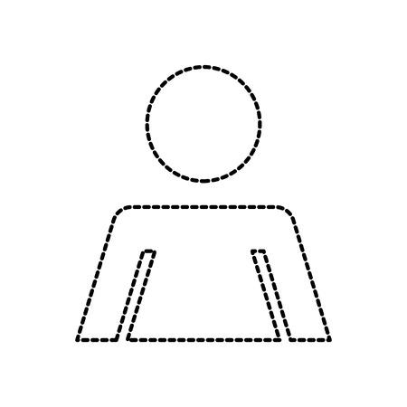 toilet door plate women sign for restroom vector illustration Illustration