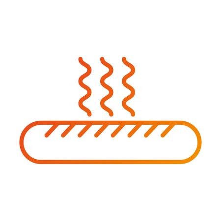 fast food hot sausage menu restaurant vector illustration