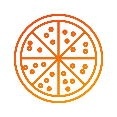 저녁 메뉴에 대한 접시에 피자 치킨 일러스트