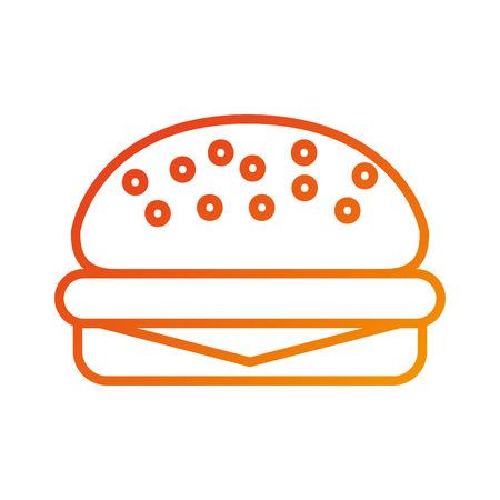 fast food burger delicious menu restaurant vector illustration 向量圖像