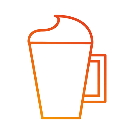 kopje capuccino of koffie met crème vectorillustratie Stock Illustratie