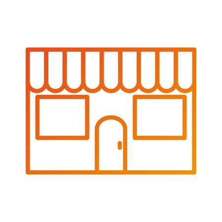 Restaurant façade extérieure bâtiment commercial illustration vectorielle Banque d'images - 87678520