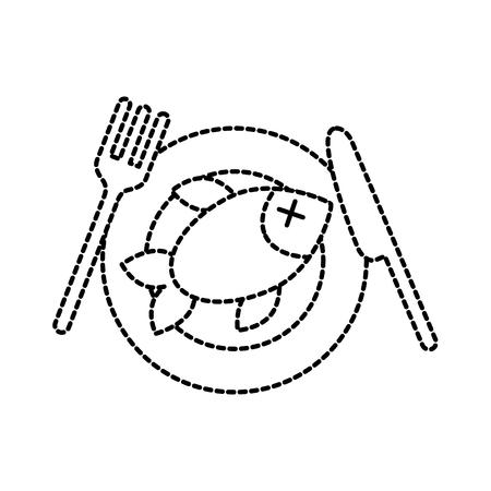 レストラン メニュー鮮魚魚介類健康的なベクトル図