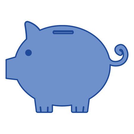 piggy savings isolated icon vector illustration design Ilustracja