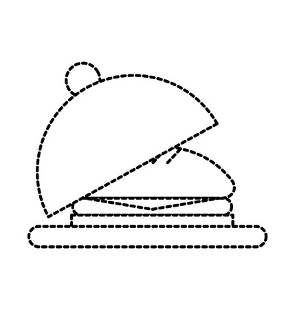 restaurant service fast food sandwich delicious menu vector illustration Illustration