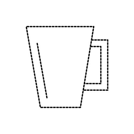 ceramic cup handle kitchen utensil vector illustration
