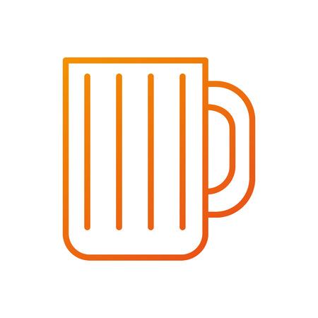 glass mug for drink bar restaurant object vector illustration