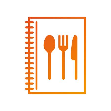 Recette livre cuisine menu restaurant élément illustration vectorielle Banque d'images - 87678763