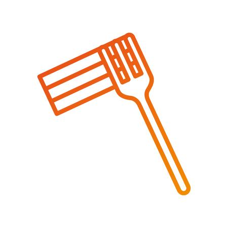 fork icon silverware kitchen restaurant symbol vector illustration Иллюстрация