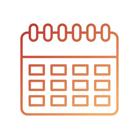 delivery logistic calendar planning organizer vector illustration