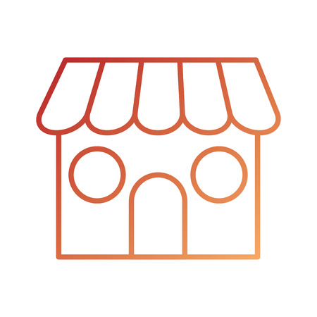 store front exterior delivery online symbol vector illustration