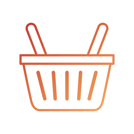 online shopping basket ecommerce market icon vector illustration Illustration
