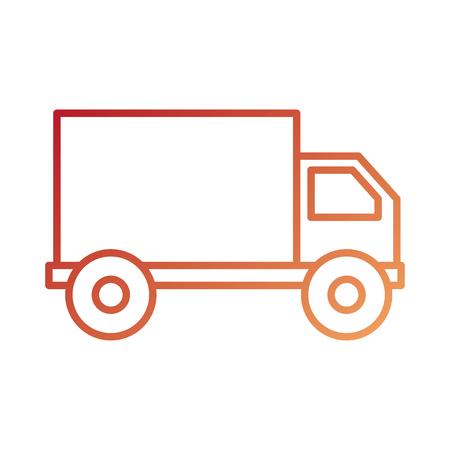 Vrachtwagen pictogram bestelwagen dienst transport zakelijke vectorillustratie Stockfoto - 87674519