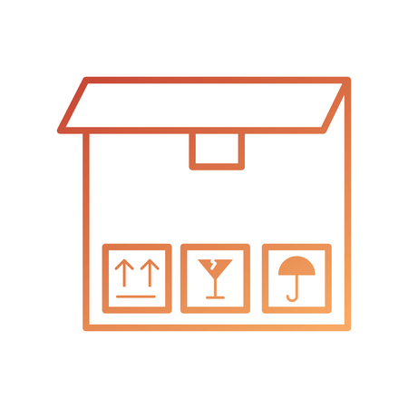 delivery cardboard box pack cargo icon vector illustration Ilustração