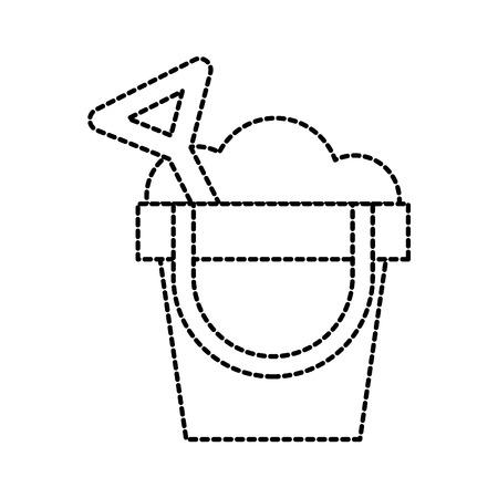 zand emmer en schop strand recreatie vectorillustratie Stock Illustratie