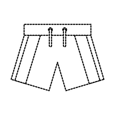 zwem korte sportkleren voor mannen vectorillustratie Stock Illustratie
