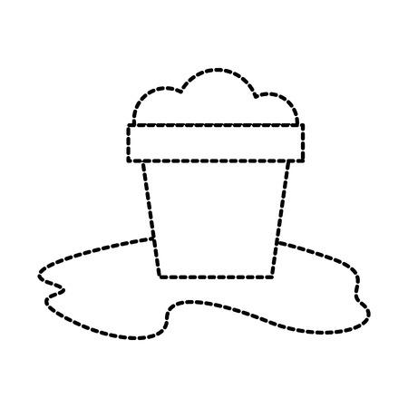 strand emmer zand vakantie reizen pictogram vectorillustratie