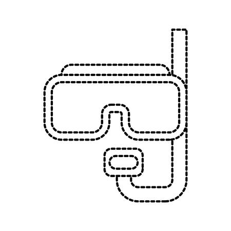 scuba-masker en snorkel voor duiken vakantie vectorillustratie Stock Illustratie