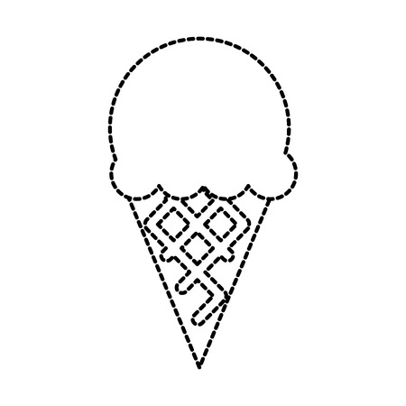 ice cream sweet cold fresh tasty vector illustration