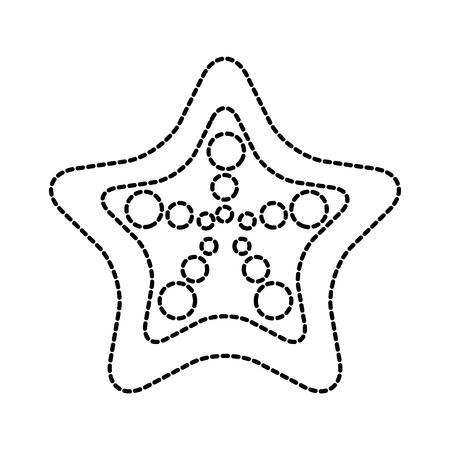 beauty starfish animal that live in the sea vector illustration Illustration