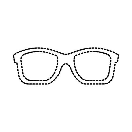 travel vacation sunglasses accessory fashion vector illustration