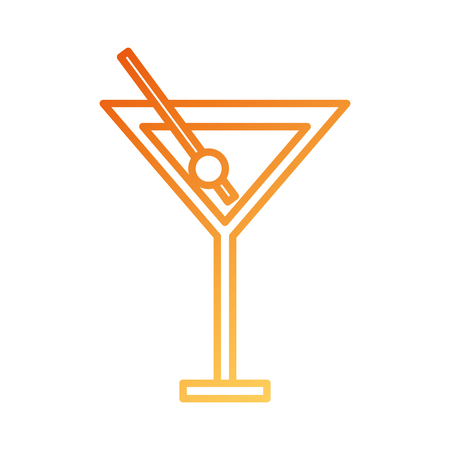 cocktail in glass cup liquor alcohol vector illustration Ilustração