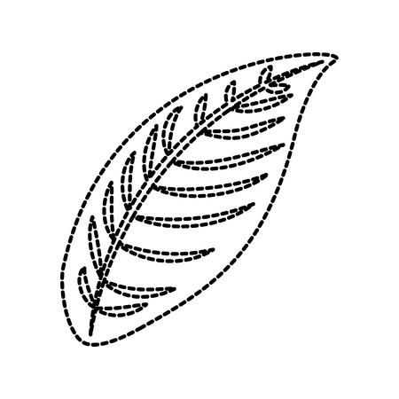 tropical plant leaf flora natural icon vector illustration