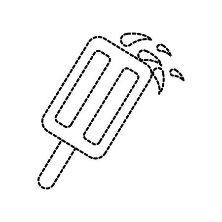 Pop glacée glacée pop sur le bâton de bois froid illustration vectorielle Banque d'images - 87675314