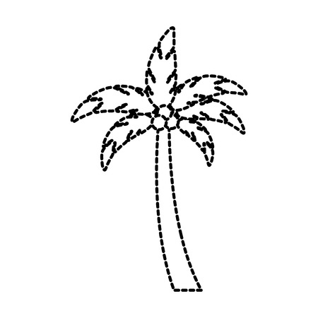 beach palm tree coconut tropical vacation concept vector illustration Illustration