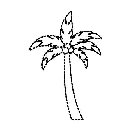 strand palmboom kokosnoot tropische vakantie concept vector illustratie