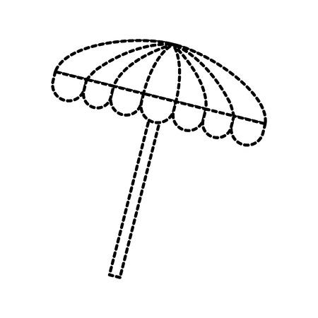 beach umbrella accessory protection vacation vector illustration