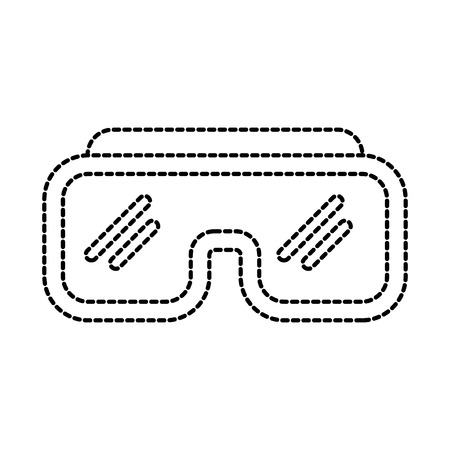 diving goggles vacation beach tourism icon vector illustration