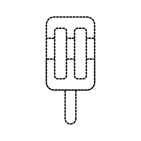 zoete ijs pop op houten stok koude vectorillustratie Stock Illustratie