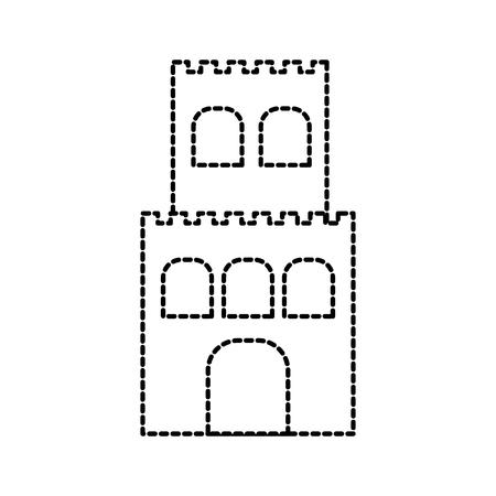 zandkasteel cartoon strand spel recreatie vectorillustratie Stock Illustratie