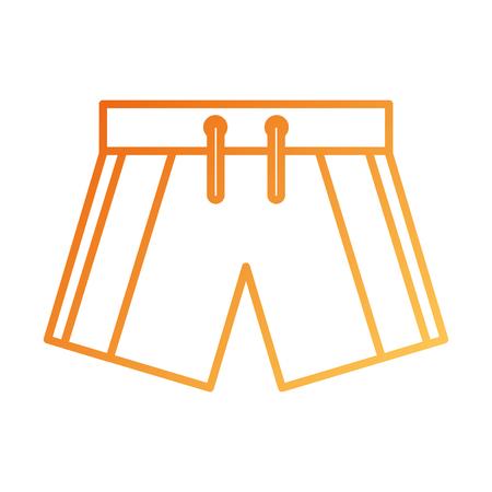 swim short sport clothes for men vector illustration