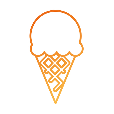 ice cream sweet cold fresh tasty vector illustration