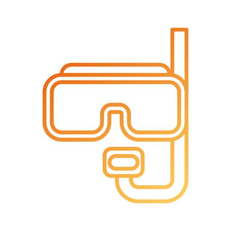 Masque de plongée et tuba pour les vacances de plongée illustration vectorielle Banque d'images - 87676532
