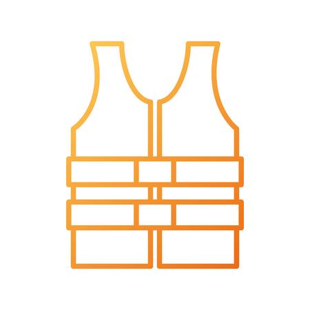 reddingsvest vest kleding redding veiligheids vectorillustratie