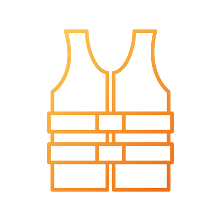 life jacket vest clothing rescue safety vector illustration