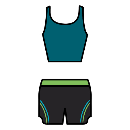 female gym dress icon vector illustration design Illustration